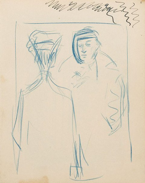 An image of (Studies of men) (London genre) by William Dobell