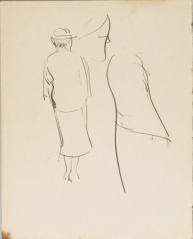 An image of (Female figure rear view) (London genre)