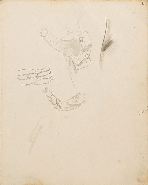 An image of (Arm studies) (London genre) by William Dobell