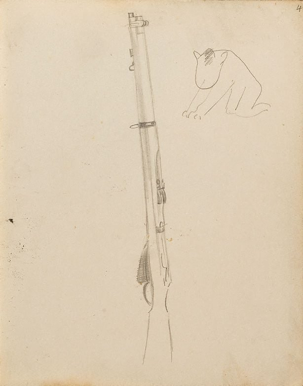 An image of (Study of a gun) (London genre)