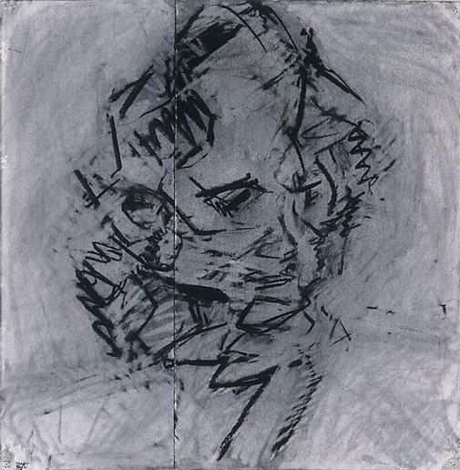 An image of Head of Catherine Lampert by Frank Auerbach