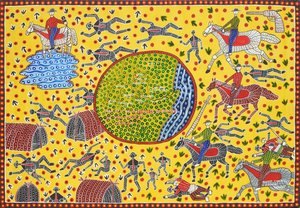 Map of the massacres of blacks on the Macleay Valley, (1991) by Robert Campbell Jnr