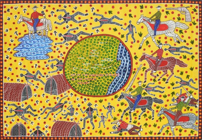 AGNSW collection Robert Campbell Jnr Map of the massacres of blacks on the Macleay Valley 1991