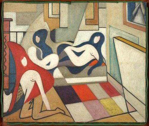 An image of (Studio interior) by Roy de Maistre