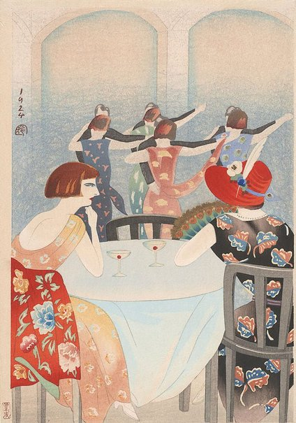 An image of Shanghai dancers by YAMAMURA Toyonari