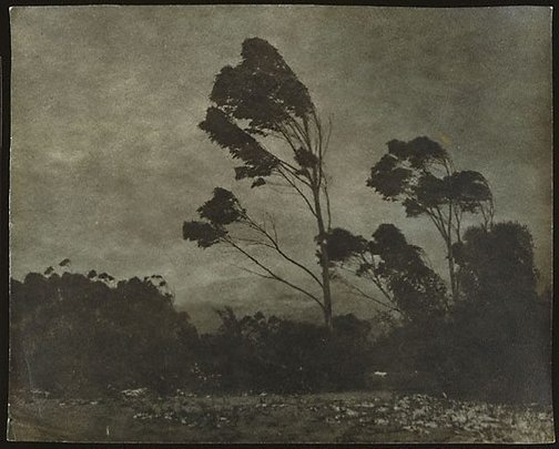 An image of Snow on Blue Mountains by Edward William Searle