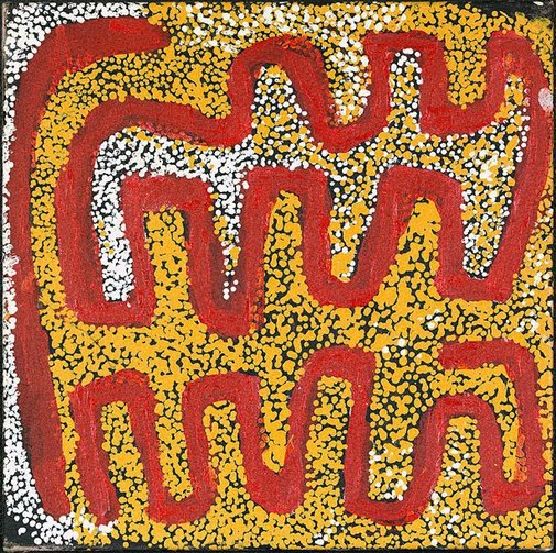 An image of Windiki, Mongrel Downs in the Tanami Desert by Alan Winderoo Tjakamarra