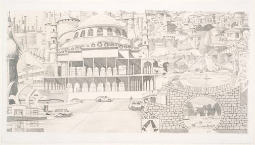 An image of Composition sketch for WEST number 4 by Ken Searle