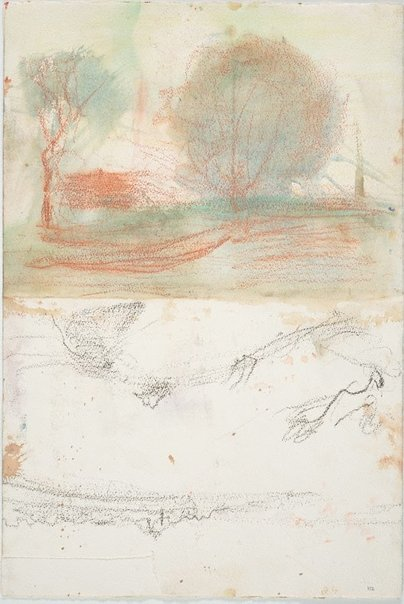An image of Misty landscape and Sketch of the river from Northwood by Lloyd Rees