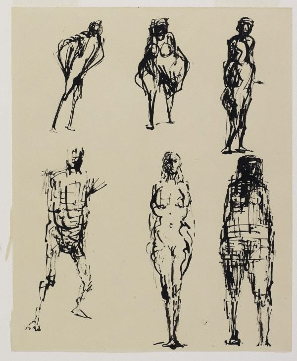 An image of Six figure sketches 2