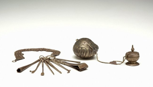 AGNSW collection Receptacles and tools for betel chewing 19th century-20th century