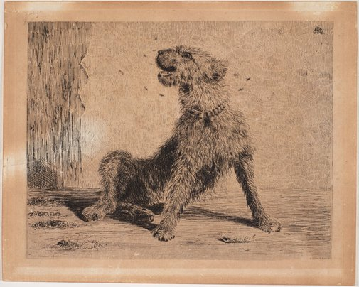 An image of Airedale by E.L. Montefiore, after Briton Rivière