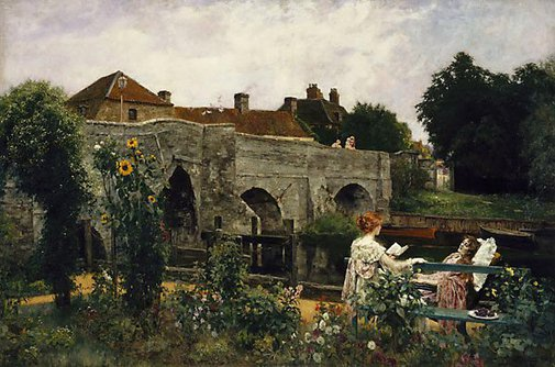 An image of The garden by the river by Yeend King