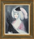 Alternate image of The black gloves by Marie Laurencin