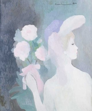 AGNSW collection Marie Laurencin Woman with bouquet (1924) 562.1987