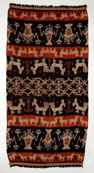 AGNSW collection Man's cloth (hinggi kombu) 20th century