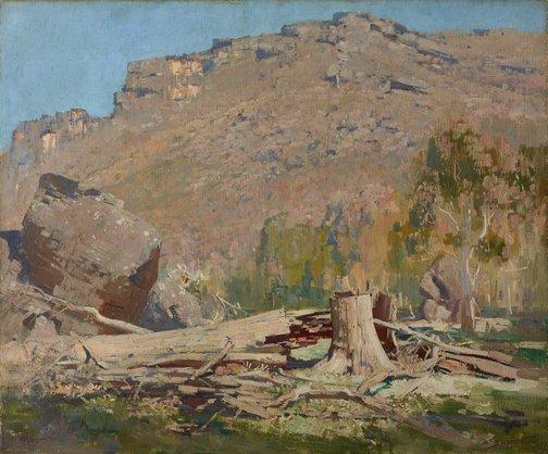 An image of Beneath the peaks, Grampians by Arthur Streeton