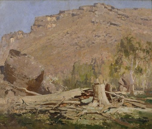 An image of Beneath the peaks, Grampians by Arthur Streeton