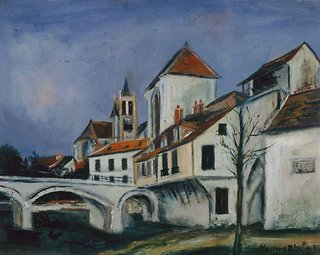 AGNSW collection Maurice Utrillo Bridge and church 564.1987