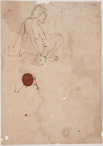 An image of (Study of seated woman) (London genre) by William Dobell