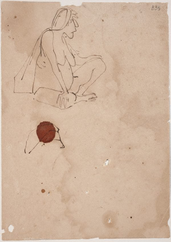 An image of (Study of seated woman) (London genre)