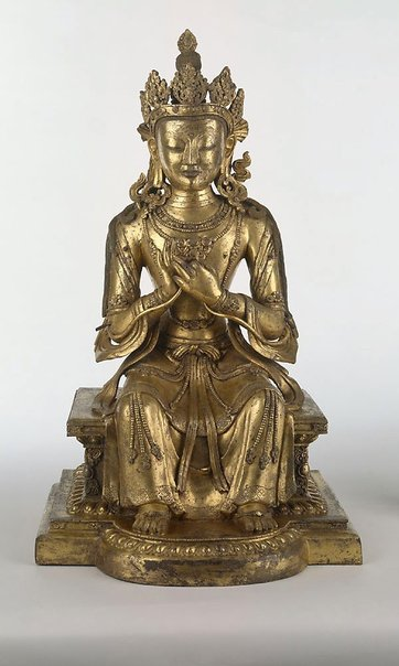 An image of Maitreya, Buddha of the future by