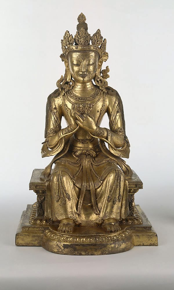 An image of Maitreya, Buddha of the future
