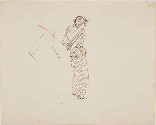 An image of (Figure study of man) (London genre)
