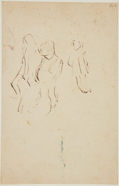 An image of (Study of child urinating) (London genre) by William Dobell