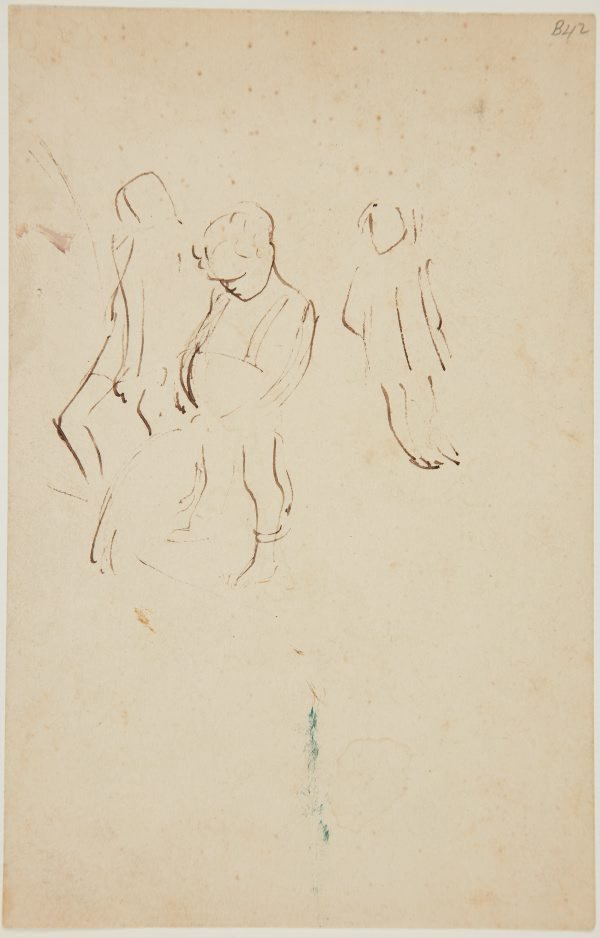 An image of (Study of child urinating) (London genre)
