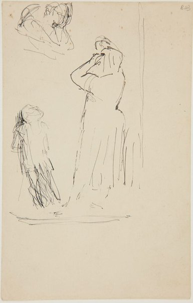 An image of (Figure studies, woman and child) (London genre) by William Dobell