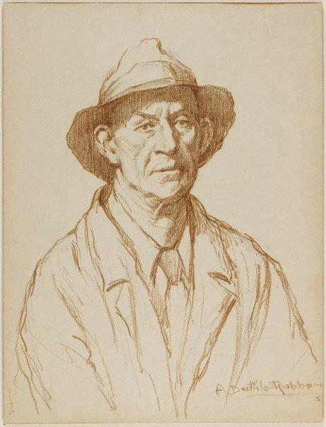 An image of Portrait study of a man by Antonio Dattilo-Rubbo