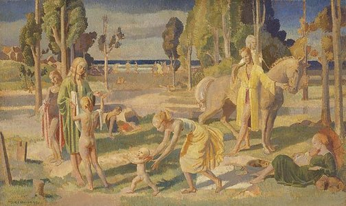 An image of Beach idyll by Arthur Murch