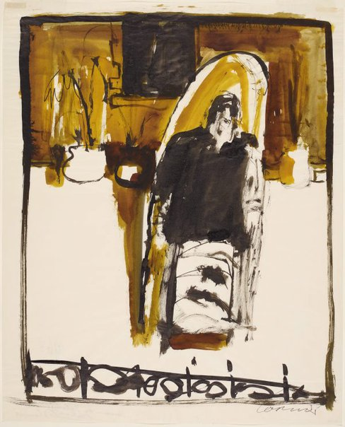 An image of Woman on balcony (Victoria Street) by Kevin Connor