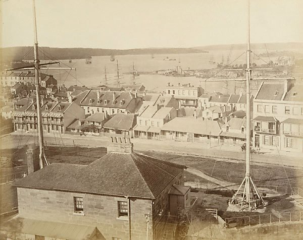 An image of View of streetscape and Sydney Harbour