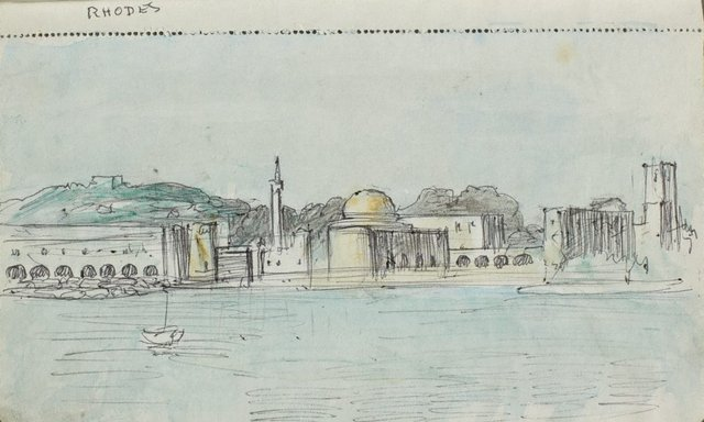 An image of Sketchbook no. 11: Italy, Greece, Paris 1966