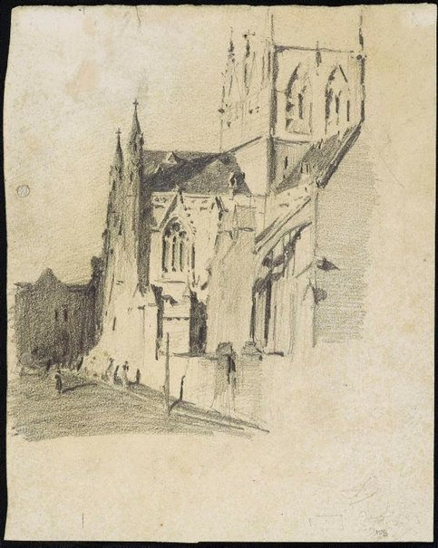 An image of St Mary's Cathedral, College Street, Sydney by Lloyd Rees