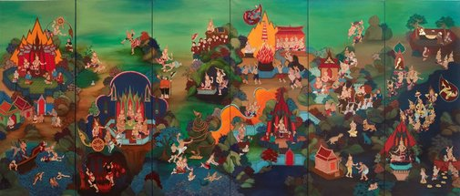 An image of Lives of the Buddha by Phaptawan Suwannakudt