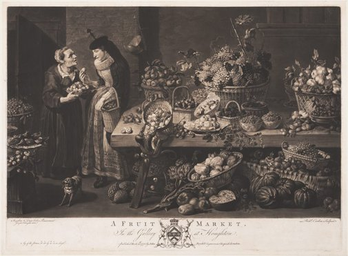 An image of A fruit market by Richard Earlom, after Frans Snyders