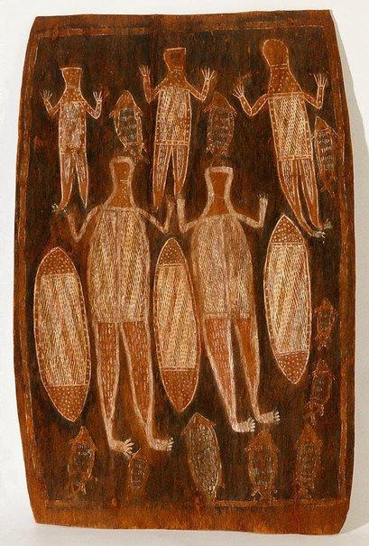 An image of Figures by Binyinyuwuy Djarrankuykuy, attrib. Binyinyuwuy