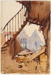 Alternate image of The stairway, Peronne by Arthur Streeton