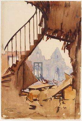 Alternate image of The stairway, Péronne by Arthur Streeton