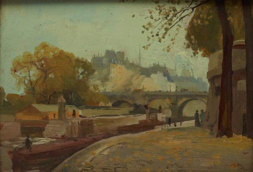 An image of The island, Pont Neuf by A Henry Fullwood