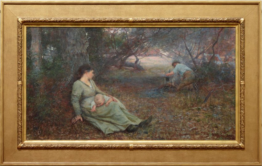AGNSW collection Frederick McCubbin On the wallaby track (1896) 572