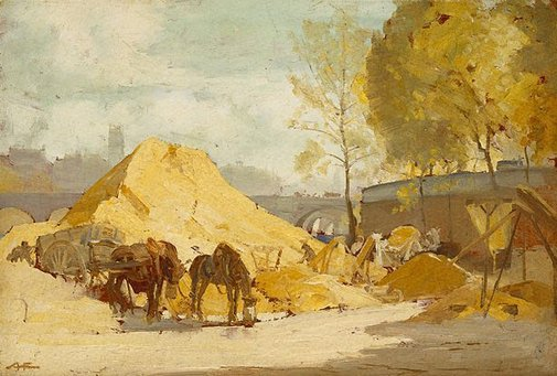 An image of Banks of the River Seine by A Henry Fullwood