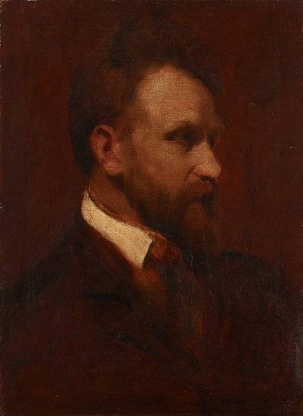 An image of Arthur Streeton - a sketch-portrait by Grace Joel