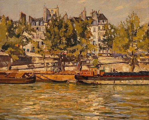 An image of The Seine at Pont Marie by Will Ashton