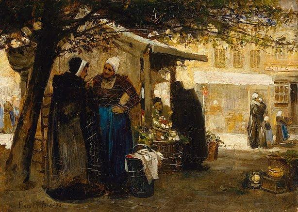 An image of Market-place, Bruges