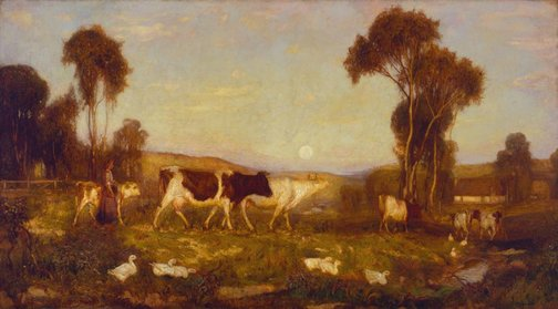 An image of The coming home by Hans Heysen