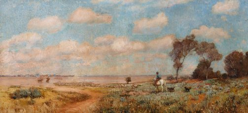 An image of On the plains of the Darling by Edward Officer